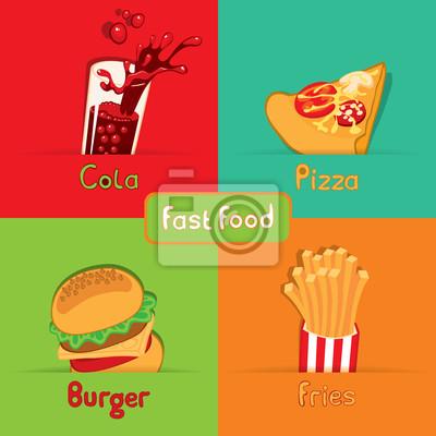 fast food z czterech żywności