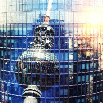 Plakat Fernsehturm w Berlinie