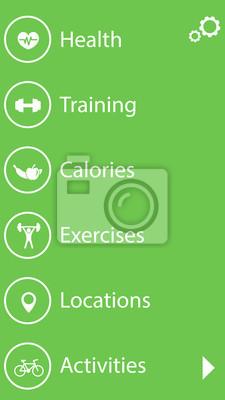 fitness, zdrowia i ikony interfejsu app szkolenia zestaw 1
