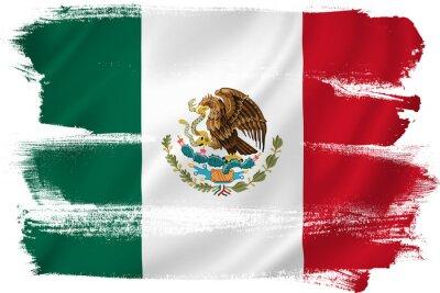 Plakat Flaga Meksyku