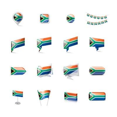 Flaga Republiki Południowej Afryki, ilustracji wektorowych na białym tle