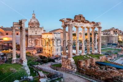 Plakat Forum Romanum w Rzymie