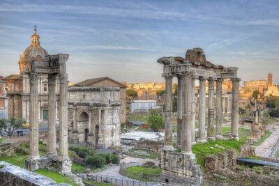 Plakat Forum Romanum Zachód słońca HDR