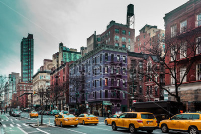 Plakat Fotografia budynki i ulicy Górny Zachodni miejsce Manhattan, Miasto Nowy Jork