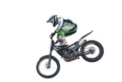 Plakat Freestyle Stunt Rider wyizolowanych na białym tle.