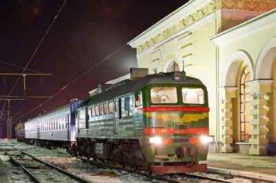 Plakat Freight-pociąg pasażerski diesel