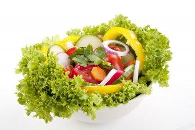 Plakat frischer Gesunder Salat mit gemischtem Gemüse
