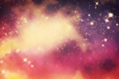 Plakat Galaxy z gwiazd i przestrzeni wszechświata fantazji.