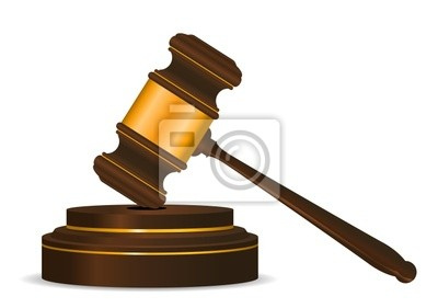 Gavel symbolu jako koncepcji prawa lub aukcji