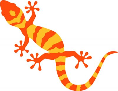 Plakat Gecko with orange and yellow pattern