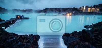 Plakat Geothermal Spa Blue Lagoon in Reykjavik, Iceland.