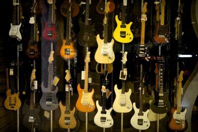 Plakat Gitary elektryczne