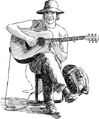 Plakat gitarzysta
