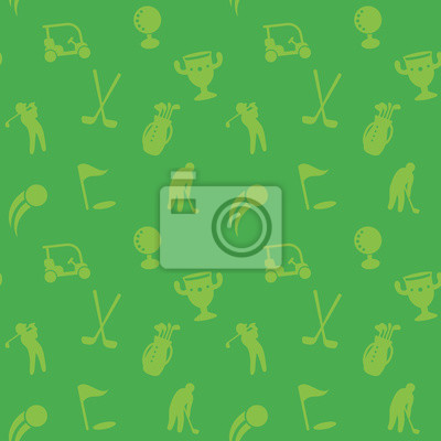 golf, bez szwu wzór, zielone tło
