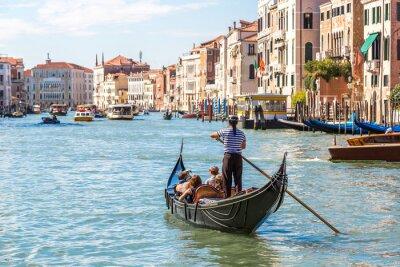 Plakat Gondola na Canal Grande w Wenecji