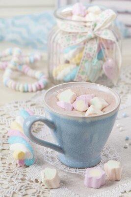 Plakat Gorąca czekolada z marshmallows