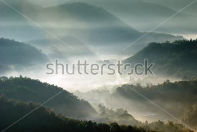 Plakat górska dolina