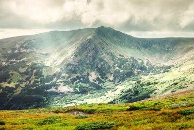 Plakat Górski krajobraz w lecie