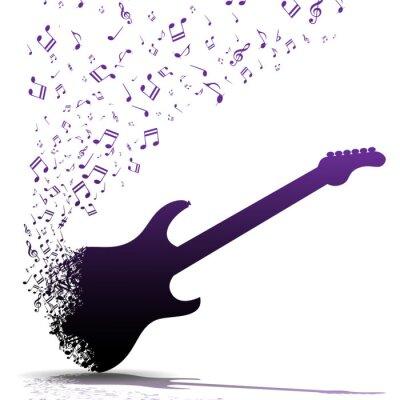 Plakat Grać na gitarze