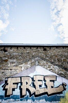Plakat Graffiti bezpłatny