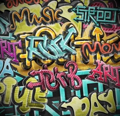 Plakat Graffiti grunge, EPS 10