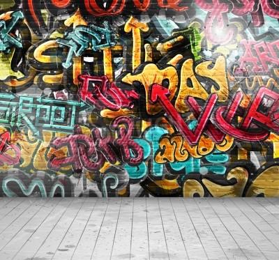 Plakat Graffiti on wall, eps 10