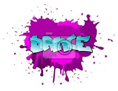 Graffiti taniec tło