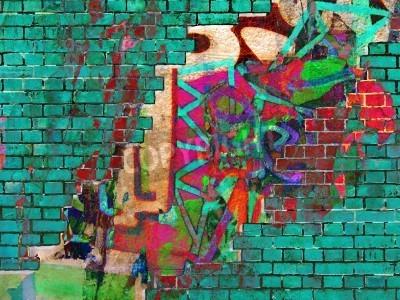Plakat Graffiti tekstury. Abstract collage.