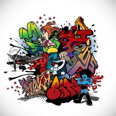 Plakat Graffiti, urban art