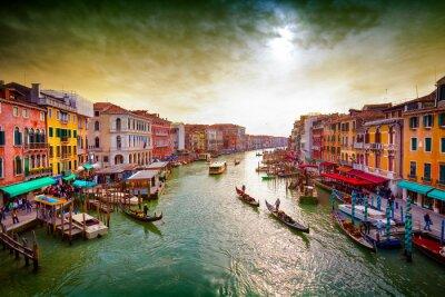 Plakat Grand Canal, Wenecja, Włochy.