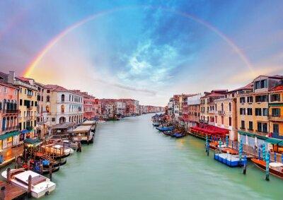 Plakat Grand Canal - Wenecja z mostu Rialto