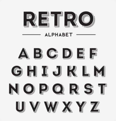 Plakat Graphic Retro Letters set