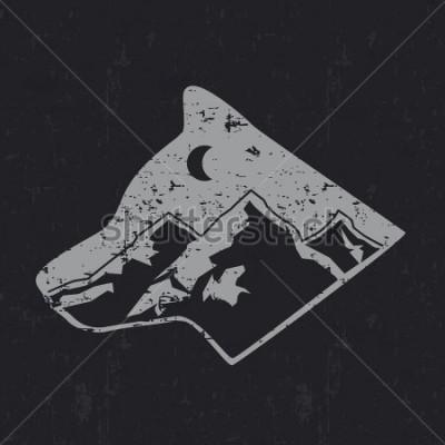 Plakat Gray wolf typography design, t-shirt graphics.