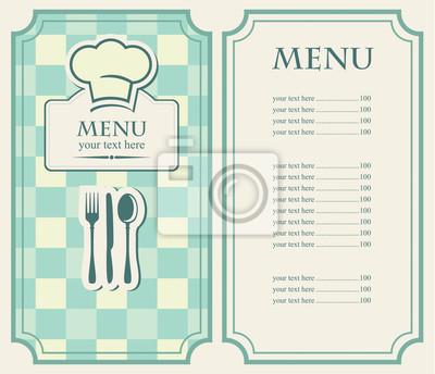 green menu dla kawiarni i restauracji