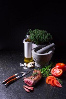 Plakat grillowany stek