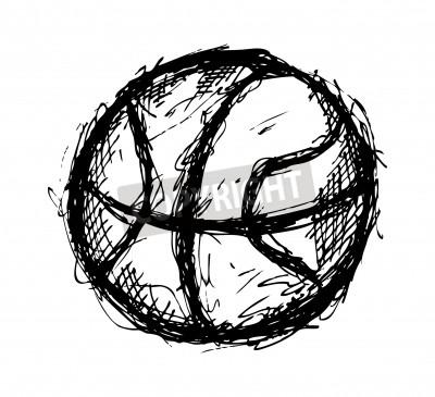 Plakat Grunge basketball doodle