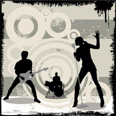 Plakat grunge koncert wektor