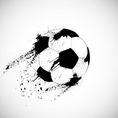 Plakat Grunge piłka nożna