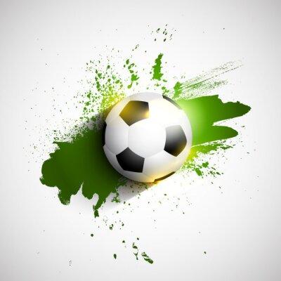Plakat Grunge piłka nożna / piłka nożna w tle