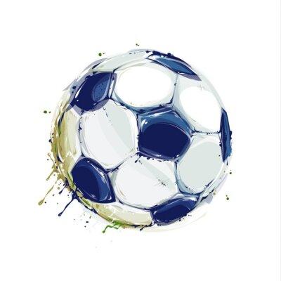 Plakat Grunge Soccer Ball