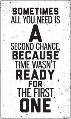 Plakat Grungy motywacyjny plakat. Dekoracji we wnętrzu
