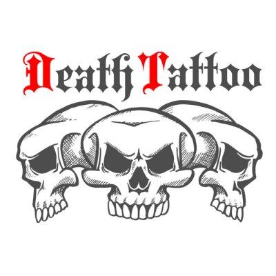 Grupa z czaszki za śmierć tatuaż