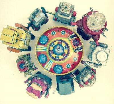 Plakat grupa zabawek robota