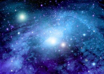 Plakat Gwiazd, pyłu i gazu mgławica