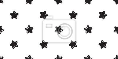 Gwiazdowego bezszwowego deseniowego wektorowego Bożenarodzeniowego szalika kreskówki ilustraci płytki tła odosobniony biel