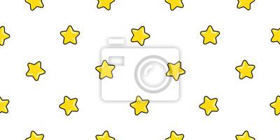 Gwiazdowy bezszwowy deseniowy wektorowy Bożenarodzeniowy szalik kreskówki odosobniony płytki płytki tła tapeta