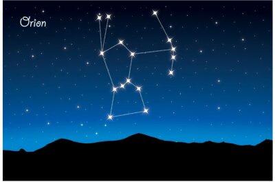 Plakat Gwiazdozbiór Oriona