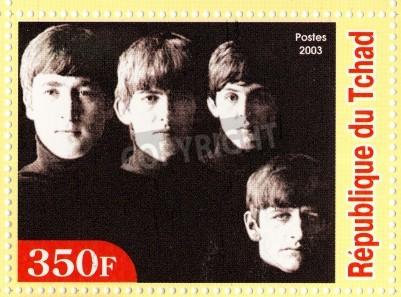 Plakat GWINEA - OKOŁO 2003: The Beatles - 1980 słynny musical grupa pop.