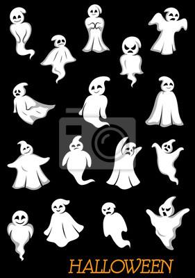Halloween duchów i upiorów Biały