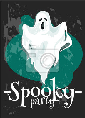 Halloween Party plakat z upiorny duch